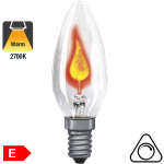Flamme Vacillante Incandescente E14 3W