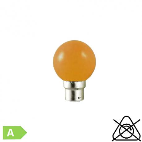 Sphérique LED B22 1W Orange
