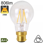 Standard LED B22 806lm 2700K Dimmable