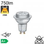 Spot LED GU10 750lm 2700K 36°