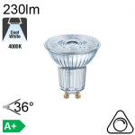 Spot LED GU10 230lm 4000K 36° Dimmable