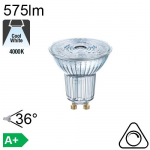 Spot LED GU10 575lm 4000K 36° Dimmable