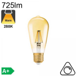 Edison Ambrée Led E27 725lm 2500K Dimmable