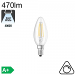 Flamme LED E14 470lm 4000K Dimmable