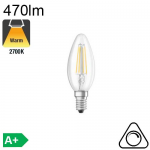 Flamme LED E14 470lm 2700K Dimmable