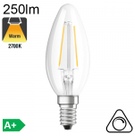 Flamme Lisse C35 4W E14 Dimmable Claire 30 000h