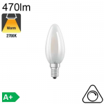 Flamme Dépolie LED E14 470lm 2700K Dimmable