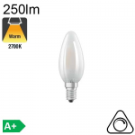 Flamme Dépolie LED E14 250lm 2700K Dimmable