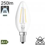 Flamme LED E14 250lm 4000K