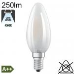 Flamme Dépolie LED E14 250lm 4000K