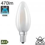 Flamme Dépolie LED E14 470lm 6500K