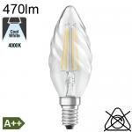 Flamme torsadée LED E14 470lm 4000K