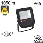 Projecteur Noir Led IP65 10W 1050lm 3000K