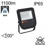 Projecteur Noir Led IP65 10W 1100lm 4000K
