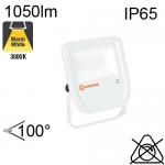 Projecteur Blanc Led IP65 10W 1050lm 3000K