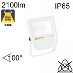 Projecteur Blanc Led IP65 20W 2100lm 3000K