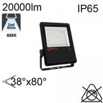 Projecteur Asymétrique Noir Led IP65 200W 20000lm 4000K