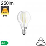 Sphérique LED E14 250lm 2700K Dimmable