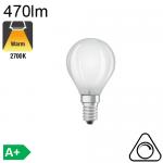Sphérique Dépolie LED E14 470lm 2700K Dimmable