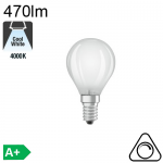 Sphérique Dépolie LED E14 470lm 4000K Dimmable