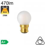 Sphérique Dépolie LED B22 470lm 2700K Dimmable