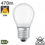 Sphérique Dépolie LED E27 470lm 2700K