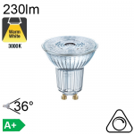 Spot LED GU10 230lm 3000K 36° Dimmable