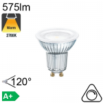 Spot LED GU10 575lm 2700K 120° Dimmable