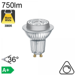 Spot LED GU10 750lm 3000K 36° Dimmable