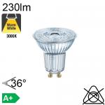 Spot LED GU10 230lm 3000K 36°