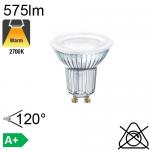 Spot LED GU10 575lm 2700K 120°