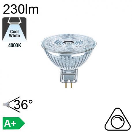 LED MR16 GU5.3 12V 4.9W equiv. 35w 950cd 350lm 2700K OSRAM