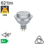 MR16 LED GU5.3 621lm 2700K 36° Dimmable