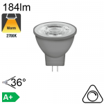 MR11 LED GU4 184lm 2700K 36° Dimmable