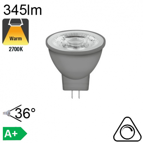 MR11 LED GU4 345lm 2700K 36° Dimmable
