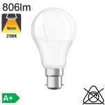 Standard LED B22 806lm 2700K