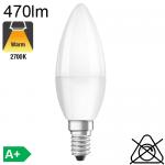 Flamme LED E14 470lm 2700K