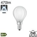 Sphérique Dépolie LED E14 470lm 4000K