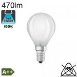Sphérique Dépolie LED E14 470lm 6500K