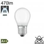 Sphérique Dépolie LED E27 470lm 4000K