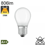 Sphérique Dépolie LED E27 806lm 2700K