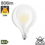Globe Dépolie LED Ø95 E27 806lm 2700K