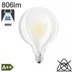 Globe Dépolie LED Ø95 E27 806lm 4000K