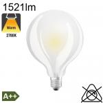 Globe Dépolie LED Ø95 E27 1521lm 2700K