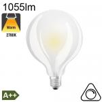 Globe Dépolie LED Ø95 E27 1055lm 2700K Dimmable