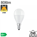 Sphérique LED E14 806lm 2700K