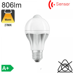 Standard Motion Sensor LED E27 806lm 2700K