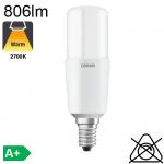 Stick LED E14 806lm 2700K