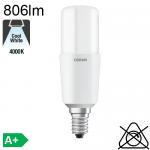 Stick LED E14 806lm 4000K
