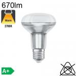 Spot R80 LED E27 36° 670lm 2700K